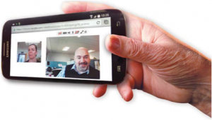 Smartphone tiptel CloudPBX